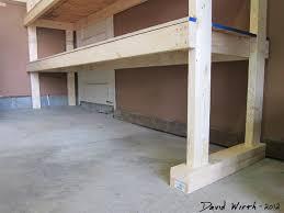 level 2x4 boards wedge shims uneven floor