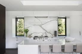 Marble slab backsplash Solid Slab The Use Of Both Black And White Kitchen Cabinets Is Unique Design Choice For Black Dwell Best 60 Modern Kitchen Stone Slab Backsplashes Design Photos And