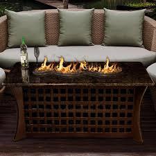 la costa del rio 54 inch propane fire pit table by california outdoor concepts coffee table height brown base black mahogany granite top black fire