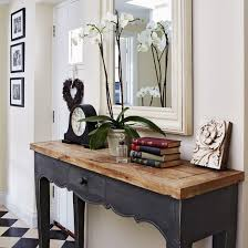black hall console table. Fab...love The Reclaimed Wood Top With Black Base. Would Be. Hall Table Console