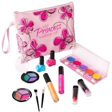 makeup set for little girls. playkidz: my first princess cosmetic and real makeup set (washable) with designer floral for little girls