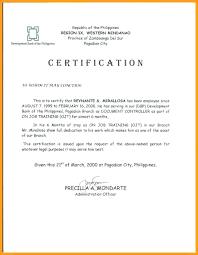 Certification Certificate Employment Template Copy Job