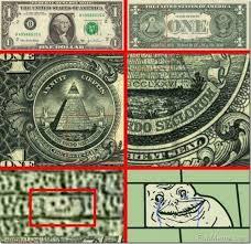 Funny! Forever Alone Meme on Dollar Bill - LolPics via Relatably.com