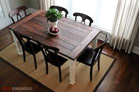 awesome diy farmhouse dining table easy diy dining table