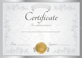 horizontal silver certificate diploma of completion template  horizontal silver certificate diploma of completion template floral pattern and frame