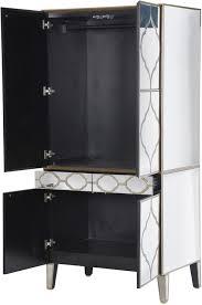 moroccan mirrored armoire wardrobe image 3