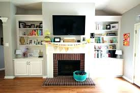 mounting tv on brick fireplace how to mount over fireplace and hide wires full size of mount on brick wall diy mount tv brick fireplace