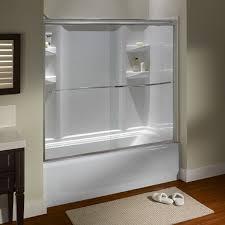 bathroom sliding glass shower doors. Tub And Shower Doors - Custom Euro Frameless Sliding Silver Bathroom Glass