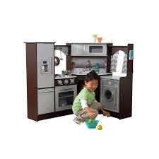 Play Kitchen With Lights And Sounds Ultimate Corner Play Kitchen With Lights Sounds Espresso