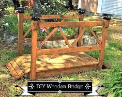 how to build wood garden bridge wooden diy plans