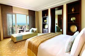 Middle Eastern Bedroom Decor Luxury Suites Accommodation Dubai The Ritz Carlton Dubai
