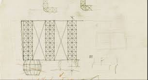 sketch by hans harald rath from lobmeyr website if you zoom in on this image you will see that it was first planned out in pencil before the lines were
