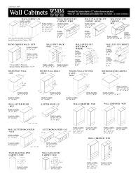 kitchen cabinet sizes chart new standard dimensions