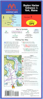 Maptech Waterproof Charts Maine Boston Harbor Entrance To York Me Waterproof Chart