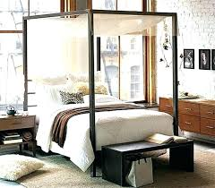 White Wood Canopy Bed Full Size Frame Black Queen Large Of Bedroom ...