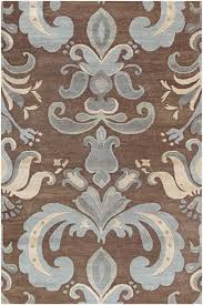 vibrant brown and blue area rug 29