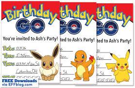 Pokemon Birthday Invitations Pokemon Birthday Invitations Birthday