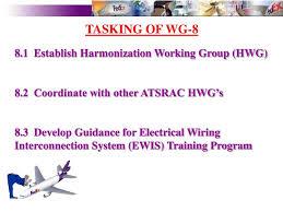 tasking of wg 8