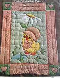 Mama and Baby Duckling Quilt Kit. Unopened vintage 1980s applique ... & Applique Quilt Patterns | Vtg 80s Gingham GOOSE Baby Quilt Pattern Applique  Blanket Ducky Doodle . Adamdwight.com