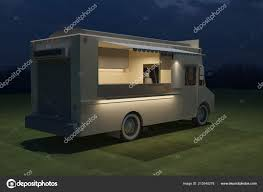 3d Food Truck Design Food Truck Kiosk Cafe Design Rendering Illustration Stock