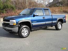Indigo Blue Metallic 2002 Chevrolet Silverado 2500 LS Extended Cab ...