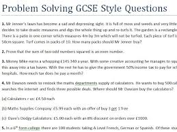 problem solving gcse style questions difficult