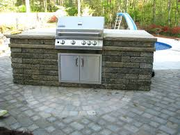 outdoor kitchen kit outdoor kitchen kits patio with stainless steel barbeque grill stone near round pool