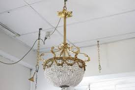 fabulous french hollandaise light french gilt bronze basket chandelier
