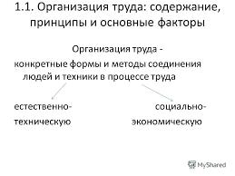 Презентация на тему Организация труда на предприятии Организация  Организация труда на предприятии 2 1 1