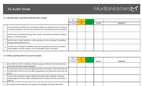 5s Radar Chart Template 5s Audit Templates Mudamasters