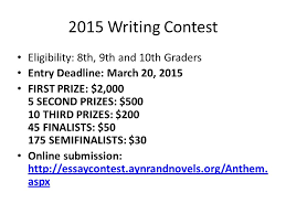 anthem essay contest examples tips hamilton high school honors  2 2015