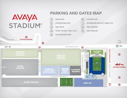 Avaya Stadium Map San Jose Earthquakes
