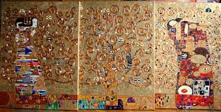 module painting the tree of life gustav klimt painting 80x180x1