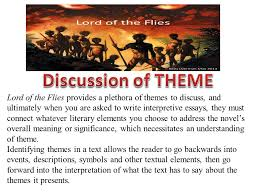 lord of the flies provides a plethora of themes to discuss and 1 lord