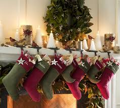 Feasible Christmas Themed Fireplace Mantel Decorating Ideas : Cute  Christmas Mantel Decorating Idea With Green And .