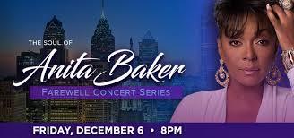 Temple Liacouras Center Seating Chart Anita Baker Farewell Concert Series The Liacouras Center