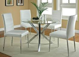 round kitchen table sets gorgeous glass with chair small throughout modern remodel 5 for