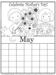 Small Picture Coloring pages for the month of may Preschool Crafts