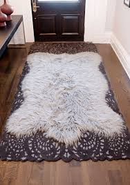 modern faux fur area rug within inspirational rugs 24 photos home improvement idea 5