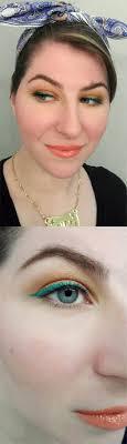 35 glitter eye makeup tutorials tropical citrus pinup eye makeup step by step diy