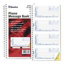 telephone message book telephone message book blueline