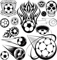 Fotbalový Míč Kolekce Stock Vektor Bigredlink 32897691