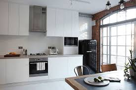 industrial furniture london. view in gallery smart white kitchen with tiled backsplash industrial furniture london