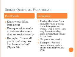 Direct Quote Gorgeous PPT Direct Quote Vs Paraphrase PowerPoint Presentation ID48