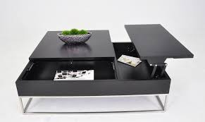 p209a modern coffee table w pull out