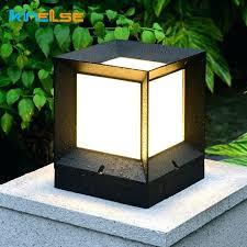 solar lamp post solar outdoor led light fixture solar power waterproof lawn lamp fence gate solar lamp