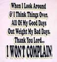 Lord, I Won't Complain