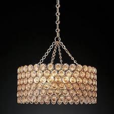 delany warm drum crystals chandelier