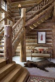 Grand Designs New Zealand Log House Log Cabin Stairs Rustic Staircase Log Home Living Rustic
