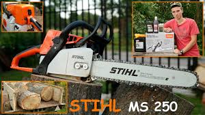 <b>Бензопила Stihl MS 250</b> - Подробный Обзор и Тест - YouTube